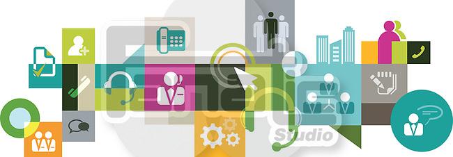 Illustrative collage of BPO industry