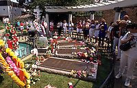 Elvis Presley grave at Graceland in Memphis, Tennessee, USA