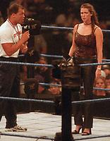 Kurt Angle Stephanie McMahon 1999                                                        By John Barrett/PHOTOlink