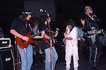 Ritchie Sambora, Dweezil Zappa, Billy Idol,Eddie Van Halen at NAMM 1987.