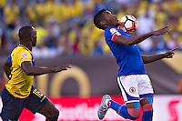 Action photo during the match Ecuador vs Haiti at MetLife Stadium Copa America Centenario 2016. ---Foto  de accion durante el partido Ecuador vs Haiti, En el Estadio MetLife Partido Correspondiante al Grupo - B -  de la Copa America Centenario USA 2016, en la foto: Kervens belfort<br /> <br /> -- 12/06/2016/MEXSPORT/Javier Ramirez.
