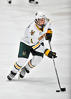 10 February 2012: University of Vermont Catamount defenseman Nick Bruneteau, a Sophomore from Omaha, NB, in action against the Boston College Eagles at Gutterson Fieldhouse in Burlington, Vermont. The Eagles defeated the Catamounts 6-1 in their Hockey East matchup. Mandatory Credit: Ed Wolfstein Photo