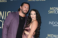 LOS ANGELES - JUL 19:  Brock Davies, Scheana Shay at Midnight in the Switchgrass Special Screening at Regal LA Live on July 19, 2021 in Los Angeles, CA