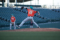 Thomas Blakney (13) of Wenatchee High School in Wenatchee, Washington during the Baseball Factory All-America Pre-Season Tournament, powered by Under Armour, on January 13, 2018 at Sloan Park Complex in Mesa, Arizona.  (Freek Bouw/Four Seam Images)