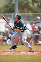 Michigan State Spartans right fielder Robbie Jones (10) at bat during a game against the Illinois State Redbirds on March 8, 2016 at North Charlotte Regional Park in Port Charlotte, Florida.  Michigan State defeated Illinois State 15-0.  (Mike Janes/Four Seam Images)