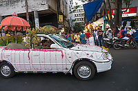 A Wedding Car on the streets in Kolkata