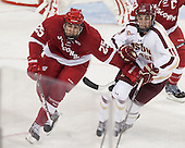 Michael Mersch (Wisconsin - 25), Chris Calnan (BC - 11) - The Boston College Eagles defeated the visiting University of Wisconsin Badgers 9-2 on Friday, October 18, 2013, at Kelley Rink in Conte Forum in Chestnut Hill, Massachusetts.