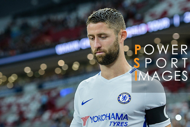 Chelsea Defender Gary Cahill getting into the field during the International Champions Cup 2017 match between FC Internazionale and Chelsea FC on July 29, 2017 in Singapore. Photo by Marcio Rodrigo Machado / Power Sport Images