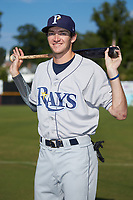 Princeton Rays outfielder Beau Brundage (16) poses for a photo prior to the game against the Pulaski Yankees at Calfee Park on July 14, 2018 in Pulaski, Virginia. The Rays defeated the Yankees 13-1.  (Brian Westerholt/Four Seam Images)