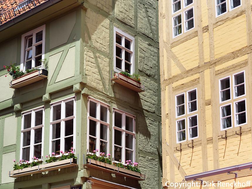 Fachwerkhäuser, Breite Starße, Quedlinburg, Sachsen-Anhalt, Deutschland, Europa, UNESCO-Weltkulturerbe<br /> halftimbered houses at Breite Straße  in Quedlinburg, Saxony-Anhalt, Germany, Europe, UNESCO World Heritage
