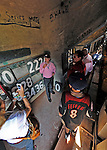 """9 June 2012: Washington Nationals owner Mark Lerner prepares to sign the wall inside the """"Green Monster"""" prior to a game against the Boston Red Sox at Fenway Park in Boston, MA. The Nationals defeated the Red Sox 4-2 in the second game of their 3-game series. Mandatory Credit: Ed Wolfstein Photo"""