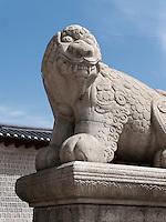 Gwanghwamun Tor des Palast  Gyeongbukgung in Seoul, Südkorea, Asien<br /> Gwanghwamun gate of palace Gyeongbukgung in Seoul, South Korea, Asia