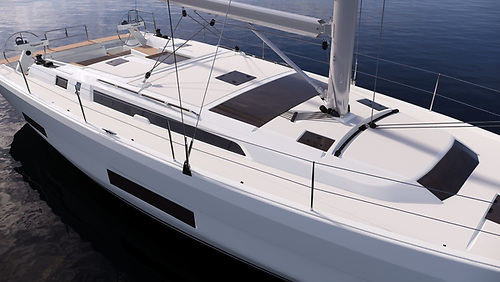 The Dufour 470 feels and looks like a 50 footer both inside and out