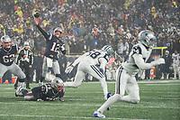 FOXBOROUGH, MA - NOVEMBER 24: New England Patriots Quarterback Tom Brady #12 passes downfield during a game between Dallas Cowboys and New England Patriots at Gillettes on November 24, 2019 in Foxborough, Massachusetts.