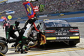 2017 Monster Energy NASCAR Cup Series<br /> Auto Club 400<br /> Auto Club Speedway, Fontana, CA USA<br /> Sunday 26 March 2017<br /> Corey LaJoie pit stop<br /> World Copyright: Nigel Kinrade/LAT Images<br /> ref: Digital Image 17FON1nk06589