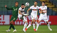3rd September 2020, Sofia, Bulgaria;  Bulgaria versus Republic of Ireland Uefa Nations League B/Group 4; Kristiyan Malinov and Petar Zanev Bulgaria close out Adam Idah of Ireland