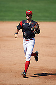 Batavia Muckdogs right fielder Walker Olis (3) during a game against the Auburn Doubledays on September 5, 2016 at Dwyer Stadium in Batavia, New York.  Batavia defeated Auburn 4-3. (Mike Janes/Four Seam Images)