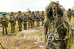 Gunner Patrick Singleton in full camouflage gear at the Irish Defence Forces manoeuvres in Tralee