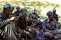 Iraq 1980 <br /> In Warte, near the Iranian border, from left to right, Hamid Effendi, Ali Abdulla and Roj Shawes drinking tea