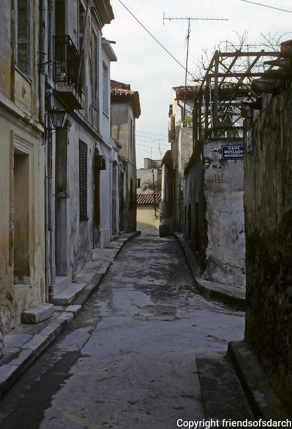 Athens: Street approach to Acropolis. Photo '82.