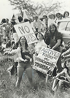 1979 FILE PHOTO - ARCHIVES -<br /> <br /> In scene reminiscent of 1960s; young people demonstrate against nuclear power<br /> <br /> 1979,<br /> <br /> PHOTO : Graham Bezant - Toronto Star Archives - AQP