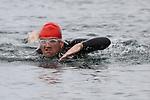 Tony Molloy finishes at the Green Buoy 1KM Swim in Clogherhead....(Photo credit should read Jenny Matthews/NEWSFILE)...