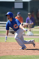 Chicago Cubs first baseman Ben Carhart (5) during an Instructional League game against the Arizona Diamondbacks on October 5, 2013 at Salt River Fields at Talking Stick in Scottsdale, Arizona.  (Mike Janes/Four Seam Images)