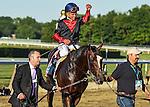 June 7, 2014: Tonalist, ridden by Joel Rosario, wins the Belmont Stakes on Belmont Stakes Day at Belmont Park in Elmont, New York. Bob Mayberger/ESW/CSM