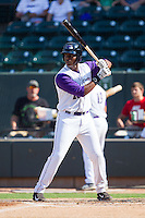 Keon Barnum (20) of the Winston-Salem Dash at bat against the Wilmington Blue Rocks at BB&T Ballpark on July 6, 2014 in Winston-Salem, North Carolina.  The Dash defeated the Blue Rocks 7-1.   (Brian Westerholt/Four Seam Images)