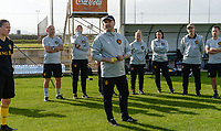 20190226 - LARNACA , CYPRUS :  Belgian head coach Ives Serneels  pictured during a Matchday -1 training from The Belgian Red Flames prior to their game against the women team of Slovakia , on Tuesday 26 February 2019 at the Alpha Sports Grounds in Larnaca , Cyprus . This will be the first game in group C for Belgium during the Cyprus Womens Cup 2019 , a prestigious women soccer tournament as a preparation on the European Championship 2021 qualification duels. PHOTO SPORTPIX.BE   DAVID CATRY