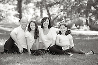 A relaxed, casual family portrait in Central Park