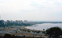 Perth: Downtown and Swan River from King's Park. Photo '82.