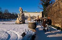 Garten von Schloss Mirabell in  Salzburg, Österreich