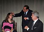 ALBA COCCIA, SILVIO BERLUSCONI E MARCO ROSI<br /> PREMIO GUIDO CARLI - TERZA  EDIZIONE<br /> PALAZZO DI MONTECITORIO - SALA DELLA LUPA<br /> CON RICEVIMENTO  HOTEL MAJESTIC   ROMA 2012
