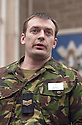 25/03/2003                   Copright Pic : James Stewart.File Name : stewart-black watch 07.SERGEANT MARK HUDSON OF THE BLACK WATCH READS OUT A STATEMENT ON BEHALF OF LANCE CORPORAL'S FAMILY.....James Stewart Photo Agency, 19 Carronlea Drive, Falkirk. FK2 8DN      Vat Reg No. 607 6932 25.Office     : +44 (0)1324 570906     .Mobile  : +44 (0)7721 416997.Fax         :  +44 (0)1324 570906.E-mail  :  jim@jspa.co.uk.If you require further information then contact Jim Stewart on any of the numbers above.........