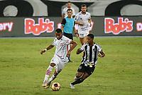 Rio de Janeiro (RJ), 13/03/2021 - Bangu-Botafogo  - Jogador do Bangu,durante partida contra o Botafogo,válida pela 3ª rodada da Taça Guanabara,realizada no Estádio Nilton Santos (Engenhão), na zona norte do Rio de Janeiro,neste sábado (13).