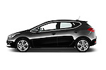 Car Driver side profile view of a 2016 KIA Ceed Sense 5 Door Hatchback Side View