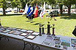 June 24, 2017- Tuscola, IL- Photos, awards, and newspaper clippings were on display during T.K. Martin VFW Post 10009's free community lunch at Ervin Park. [Photo: Douglas Cottle]