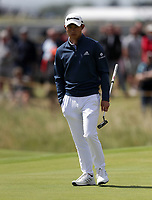 16th July 2021; Royal St Georges Golf Club, Sandwich, Kent, England; The Open Championship Tour Golf, Day Two; Collin Morikawa (USA) on the 12th green