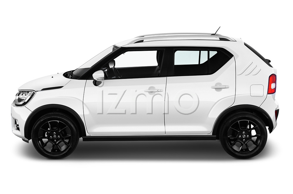 Car driver side profile view of a 2018 Suzuki Ignis GLX 5 Door Hatchback