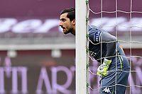 Mattia Perin of Genoa CFC in action during the Serie A football match between Torino FC and Genoa CFC at stadio Olimpico Grande Torino in Torino (Italy), February 13th, 2021. Photo Giuliano Marchisiano / Insidefoto