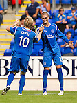 St Johnstone v Real Valladolid....07.08.10  Pre-Season Friendly.Marcus Haber celebrates his goal with Liam Craig.Picture by Graeme Hart..Copyright Perthshire Picture Agency.Tel: 01738 623350  Mobile: 07990 594431