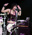 October 10, 2009 -.Joan Jett & The Blackhearts perform during JackFm's fourth show at Verizon Wireless Amphitheater..Irvine, CA..Photo by Kelly A. Swift/RockinExposures