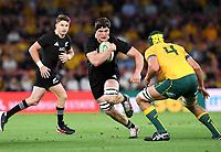7th November 2020, Brisbane, Australia; Tri Nations International rugby union, Australia versus New Zealand;  Scott Barrett of the All Blacks in action