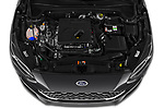 Car Stock 2019 Ford Focus-Clipper Vignale 5 Door Wagon Engine  high angle detail view