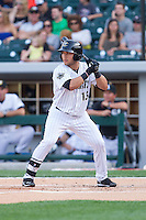 Carlos Sanchez (13) of the Charlotte Knights at bat against the Lehigh Valley IronPigs at BB&T Ballpark on May 8, 2014 in Charlotte, North Carolina.  The IronPigs defeated the Knights 8-6.  (Brian Westerholt/Four Seam Images)