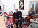Iraq 2015 <br /> In the camp of Berseve, a Christian family from Mosul  <br /> Irak 2015 <br /> Au camp de Berseve, des Chretiens de Mossoul