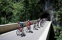 breakaway group up the Col de Porte<br /> <br /> 73rd Critérium du Dauphiné 2021 (2.UWT)<br /> Stage 6 from Loriol-sur-Drome to Le Sappey-en-Chartreuse (167km)<br /> <br /> ©kramon