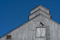 Grain elevators and grain storage bins are a common site in the Palouse.