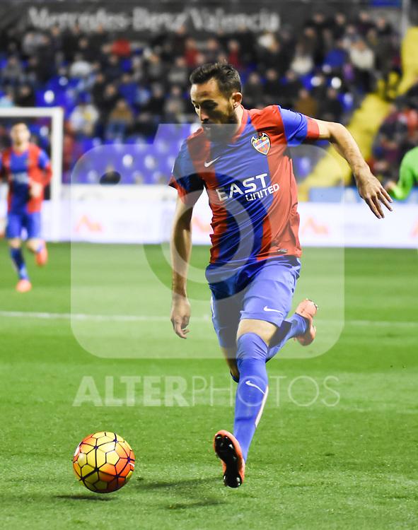 Levante's    Morales   during La Liga match. February 19, 2016. (ALTERPHOTOS/Javier Comos)